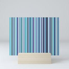 Old Skool Stripes - Sea Foam - Extra Wide Mini Art Print