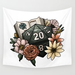 Dungeon Master D20 Tabletop RPG Gaming Dice Wall Tapestry