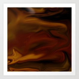 Camouflage Pattern- Red and Yellow Tint Art Print
