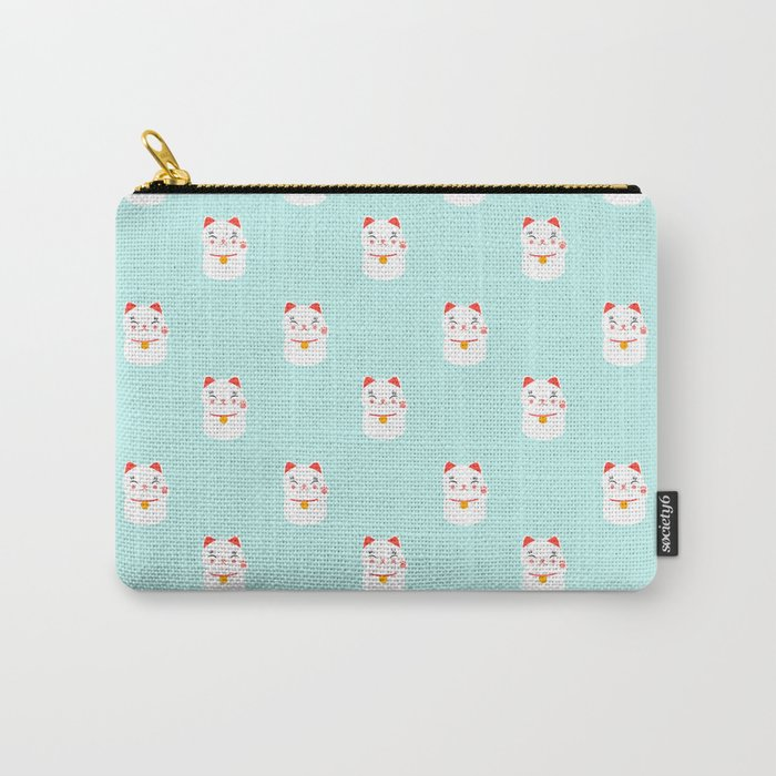 Lucky happy Japanese cat pattern Carry-All Pouch