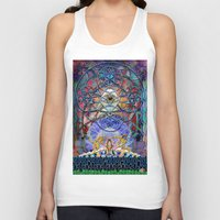 shiva Tank Tops featuring Space Shiva by BradButler