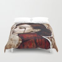 audrey Duvet Covers featuring Audrey  by Olechka