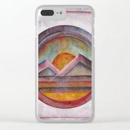 Geometric landscapes 02 Clear iPhone Case