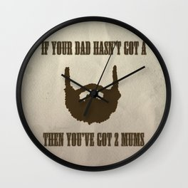A Real Man Wall Clock