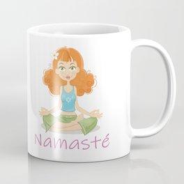 Smiling Girl practising Yoga Lotus Pose Coffee Mug