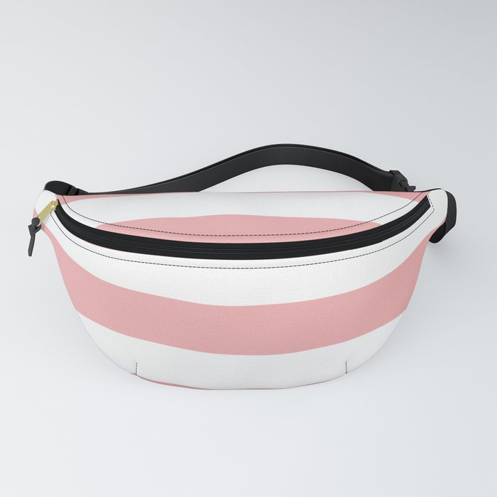Large Blush Pink and White Cabana Tent Stripes Fanny Pack