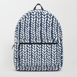 Knit Wave Navy Backpack