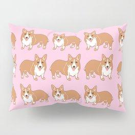 Corgi Pattern Pink Pillow Sham