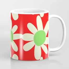Red Holiday Floral Pattern Design by Christie Olstad Coffee Mug