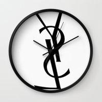 ysl Wall Clocks featuring LSY * YSL by Al13500