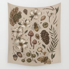 Nature Walks (Light Background) Wall Tapestry