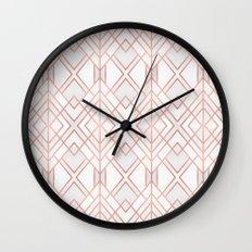 Geo Rose Gold Wall Clock