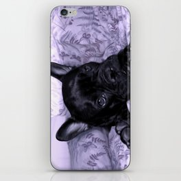 Purple Frenchie iPhone Skin