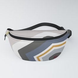 hexagon purple Fanny Pack