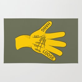 Palmistry Hang Loose Shaka Sign Rug