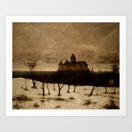 The Castle of Blonay by Gustave Courbet Art Print