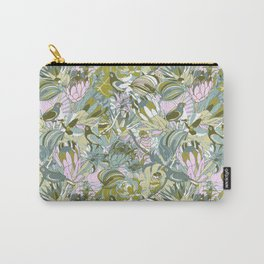 Tropical paradise | Grayish Turquoise Carry-All Pouch
