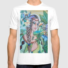 Into Fairy Land White Mens Fitted Tee MEDIUM
