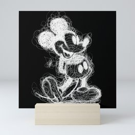 Mickey Mouse inverted Scribble Mini Art Print