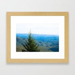 Hazy Blue Framed Art Print