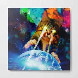 Cat Invasion Metal Print