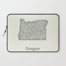 Oregon map Laptop Sleeve