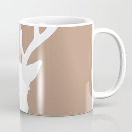 Deer Head: Rustic Beige Coffee Mug