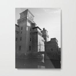 Castle of Ferrara Metal Print