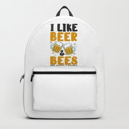 Beer Lover Bees Drinking Beers Pub Party Backpack