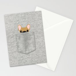 Pocket French Bulldog - Fawn Stationery Cards