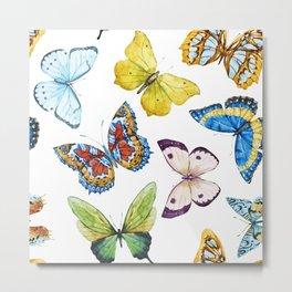 Butterfly Pattern 01 Metal Print
