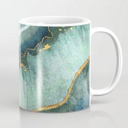Gold Turquoise Agate Coffee Mug