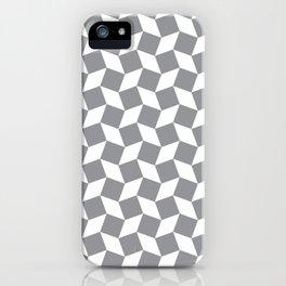 Grey Op Art Pattern iPhone Case