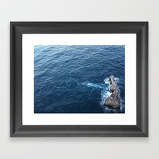 Rock In The Sea Framed Art Print