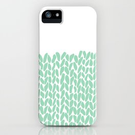 Half Knit Mint iPhone Case