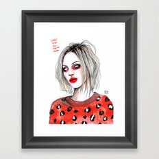Girls talk (so much shit) Brody D Framed Art Print