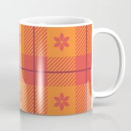 Spring Star Floral Plaid - Fiesta Coffee Mug