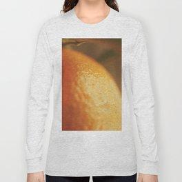 Orange peel, macro photography, fine art print, texture, for bar, home decor or interior desig Long Sleeve T-shirt