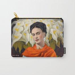 FERIDA KAHLO REBOZO NARANJA Carry-All Pouch