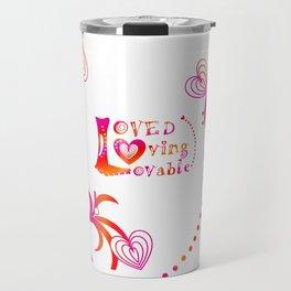 Loved. Loving, Lovable in Feng Shui Colours 2019 Travel Mug