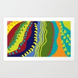 Colour Avalanche Art Print