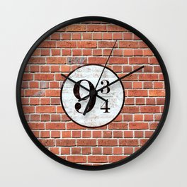 Platform Nine and Three-Quarters Wall Clock