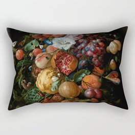 "Jan Davidsz. de Heem ""Festoon of Fruit and Flowers"" Rectangular Pillow"