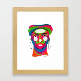 Palenquera es color Framed Art Print