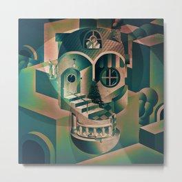 Utopia Skull 1 Metal Print