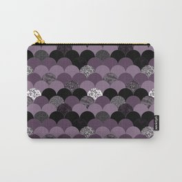 Purple violet abstract mermaid scales pattern Carry-All Pouch