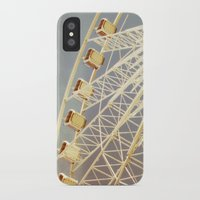 ferris wheel iPhone & iPod Cases featuring Ferris Wheel by The Last Sparrow