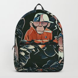 Three monkeys Backpack