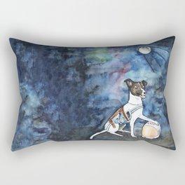 Our hero, Laika Rectangular Pillow