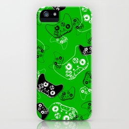 Video Game Green iPhone Case